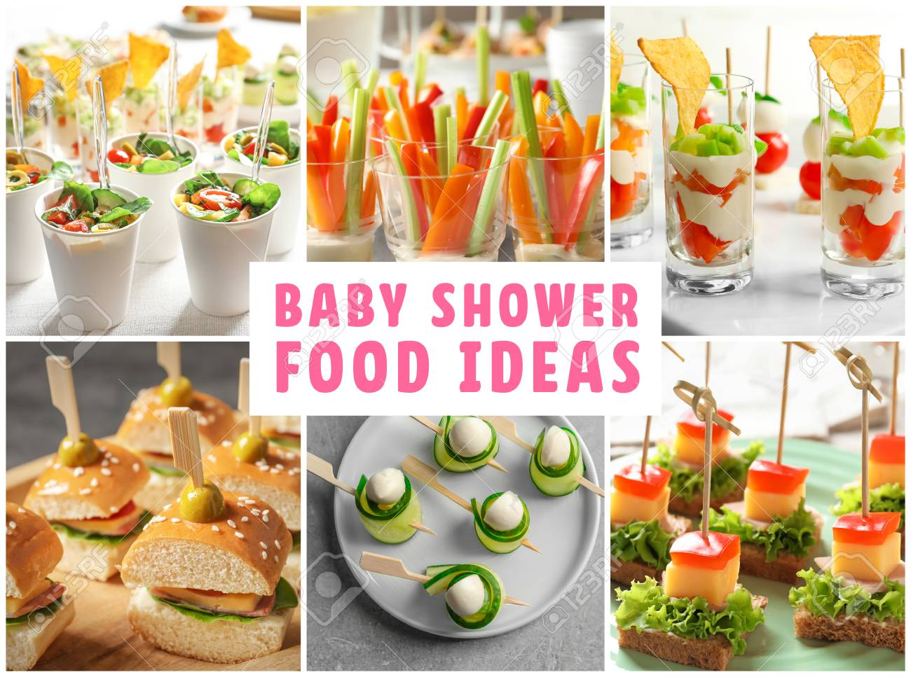 Collage With Baby Shower Food Ideas Stock Photo Picture And Royalty Free Image Image 90868195