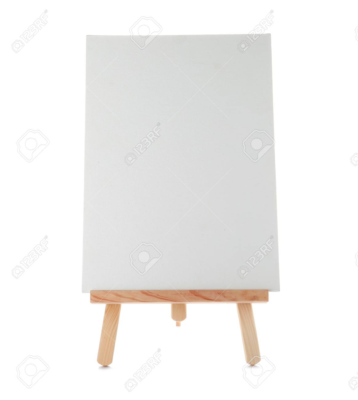 wooden easel with blank