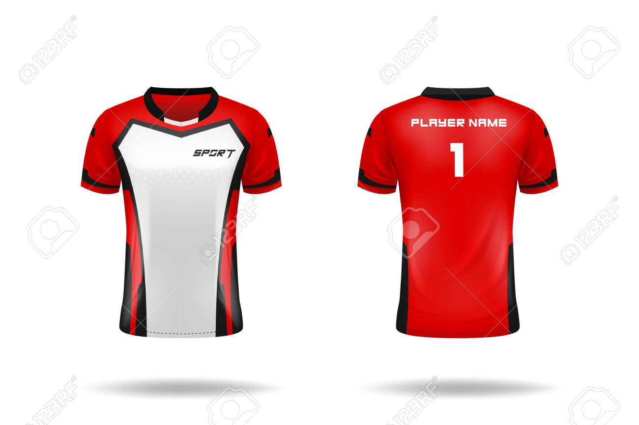 Tutorial mockup jersey depan belakang. Specification Soccer Sport Esport Gaming T Shirt Jersey Template Mock Up Uniform Vector Illustration Design Royalty Free Cliparts Vectors And Stock Illustration Image 148258446