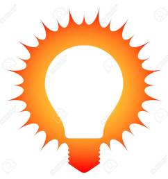 idea schematic illustration of a glowing light bulb stock vector 20481939 [ 1300 x 1300 Pixel ]