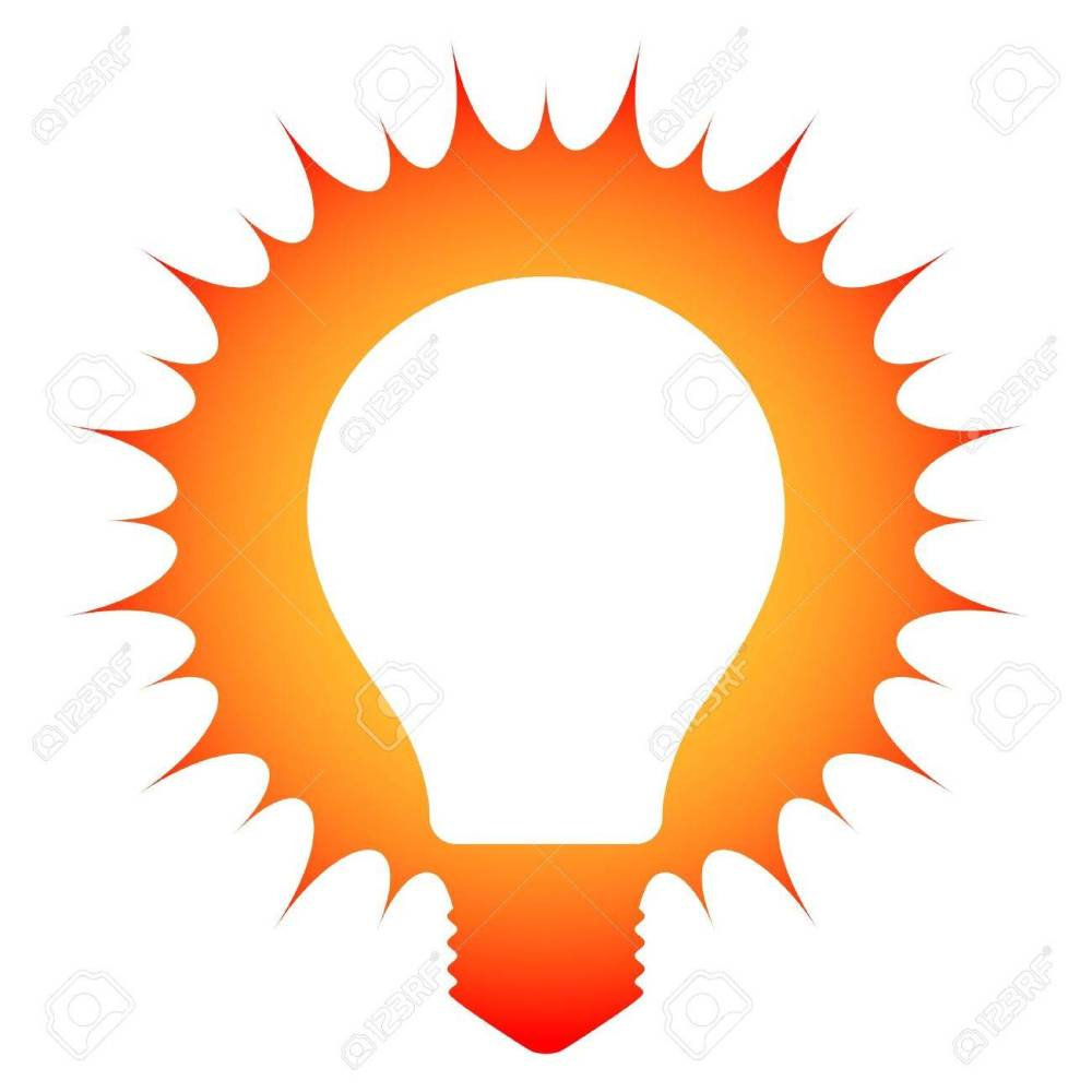 medium resolution of idea schematic illustration of a glowing light bulb stock vector 20481939