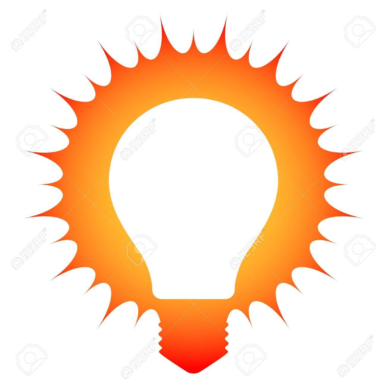 hight resolution of idea schematic illustration of a glowing light bulb stock vector 20481939