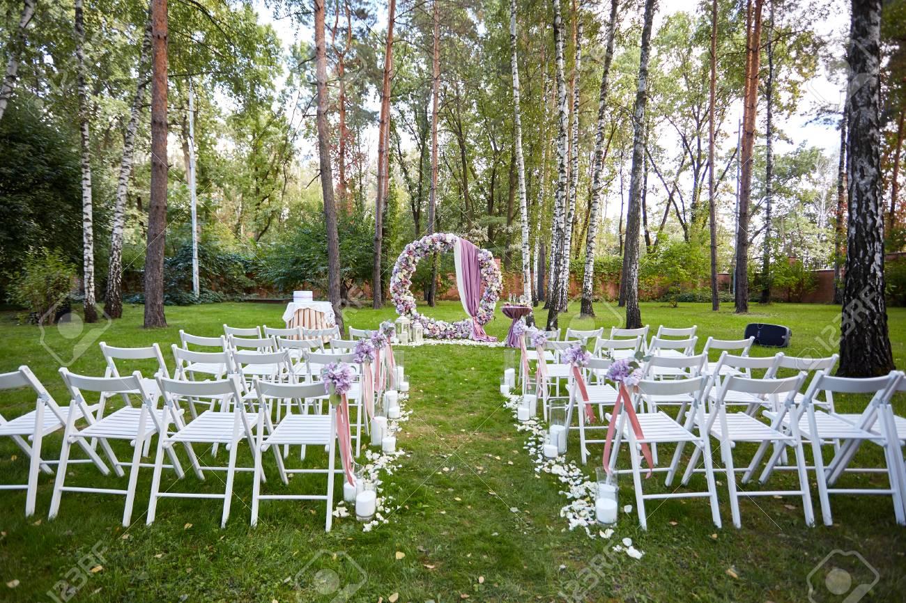 Wald Hochzeit Schone Hochzeit Trauung Im Wald Am Abend Weisse