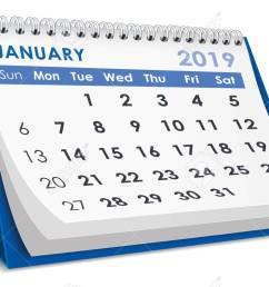 january 2019 calendar stock vector 106549974 [ 1300 x 795 Pixel ]