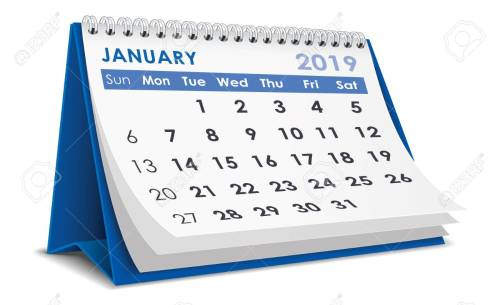 small resolution of january 2019 calendar stock vector 106549974