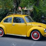 Ubud Bali August 28 2016 Vintage Yellow Volkswagen Beetle Stock Photo Picture And Royalty Free Image Image 62934008