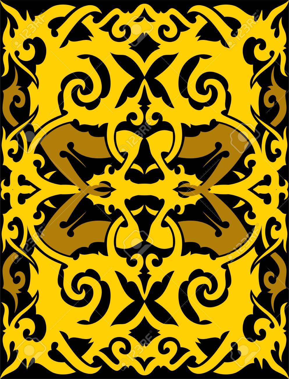 Background Motif Dayak : background, motif, dayak, Seamless, Pattern, Borneo, Batik, Style., Traditional, Indonesian.., Royalty, Cliparts,, Vectors,, Stock, Illustration., Image, 127849413.