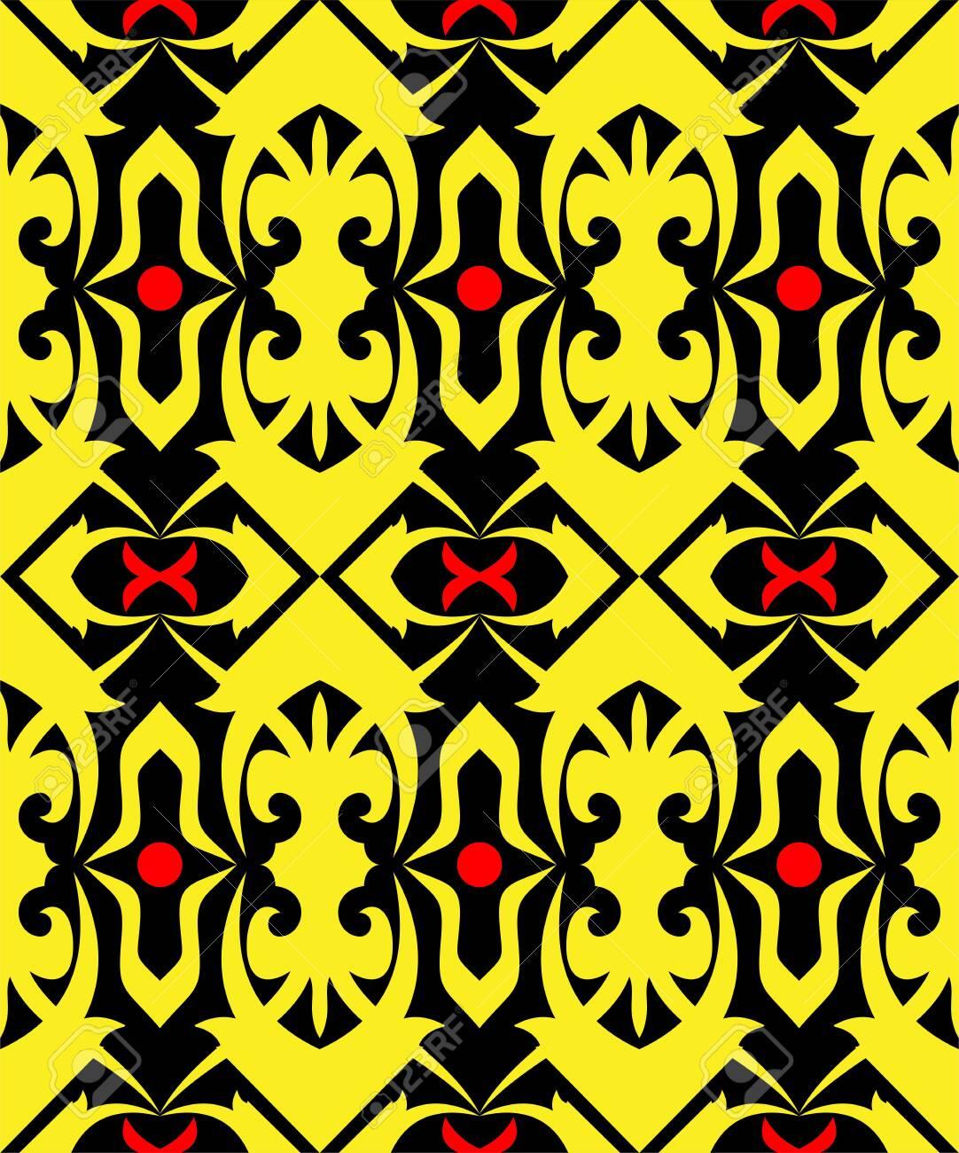 Background Motif Dayak : background, motif, dayak, Seamless, Pattern, Borneo, Batik, Style., Traditional, Indonesian.., Royalty, Cliparts,, Vectors,, Stock, Illustration., Image, 130402547.