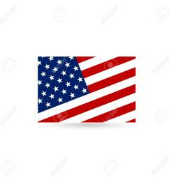 flat and waving american flag vector illustration stock vector 96721076 [ 1300 x 1300 Pixel ]