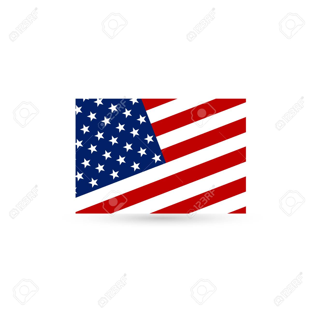 hight resolution of flat and waving american flag vector illustration stock vector 96721076