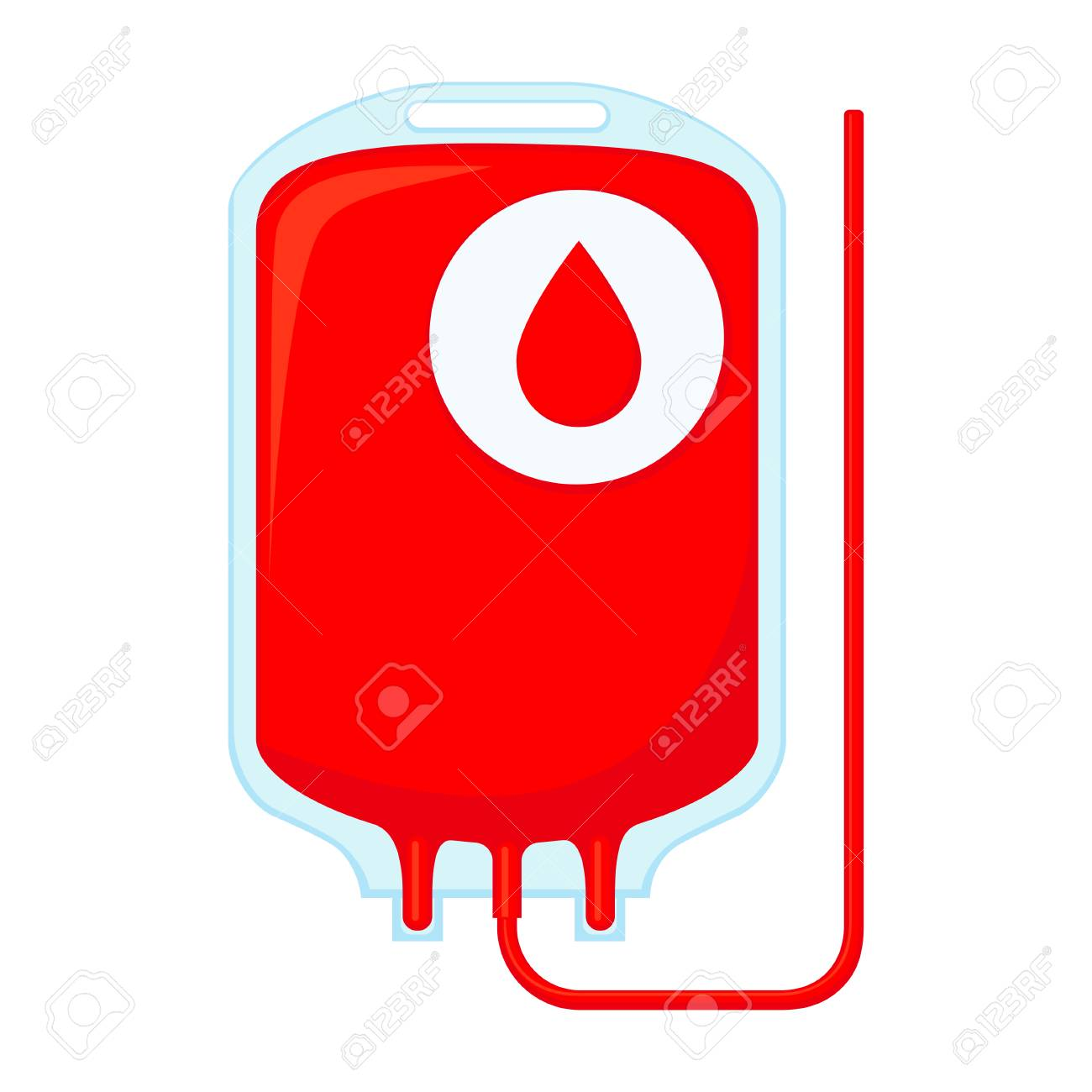 hight resolution of colorful cartoon blood donation bag isolated on white background healthcare themed vector illustration for icon