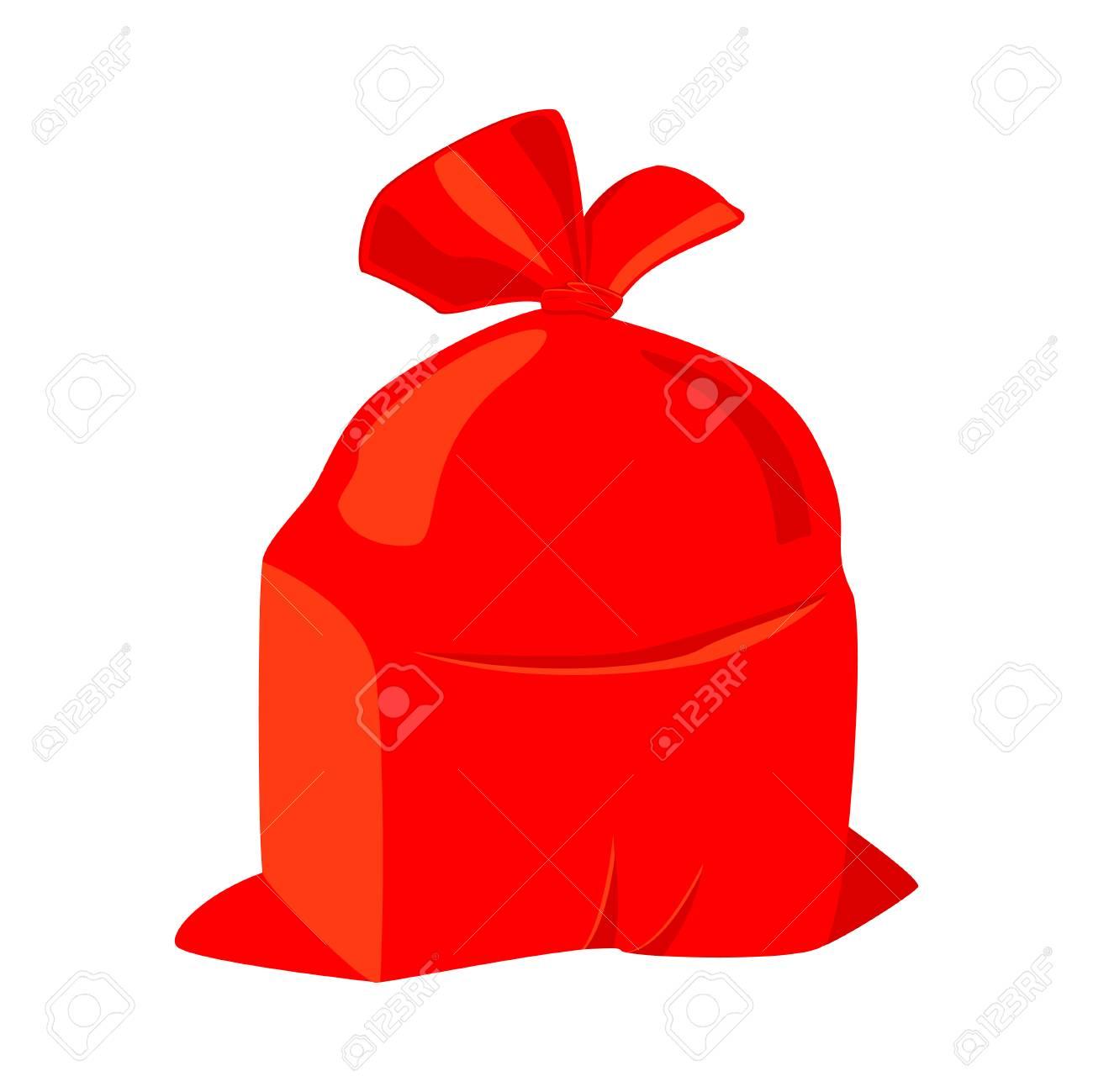 colorful cartoon santa sack