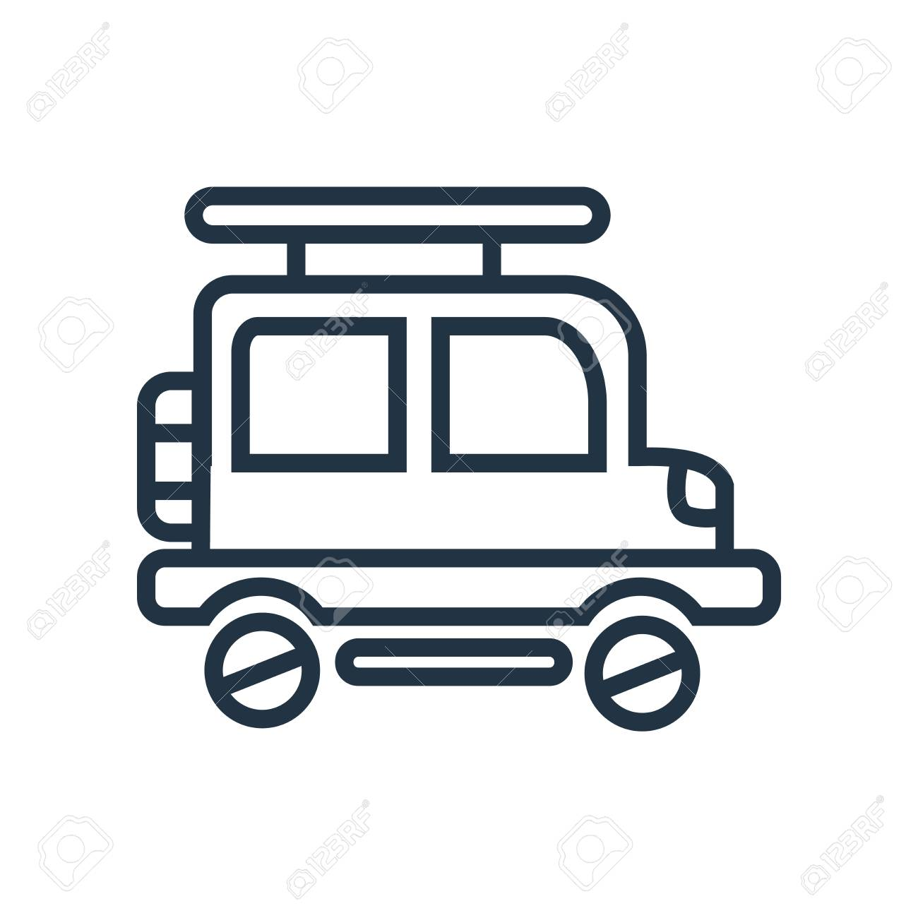 jeep icon vector isolated