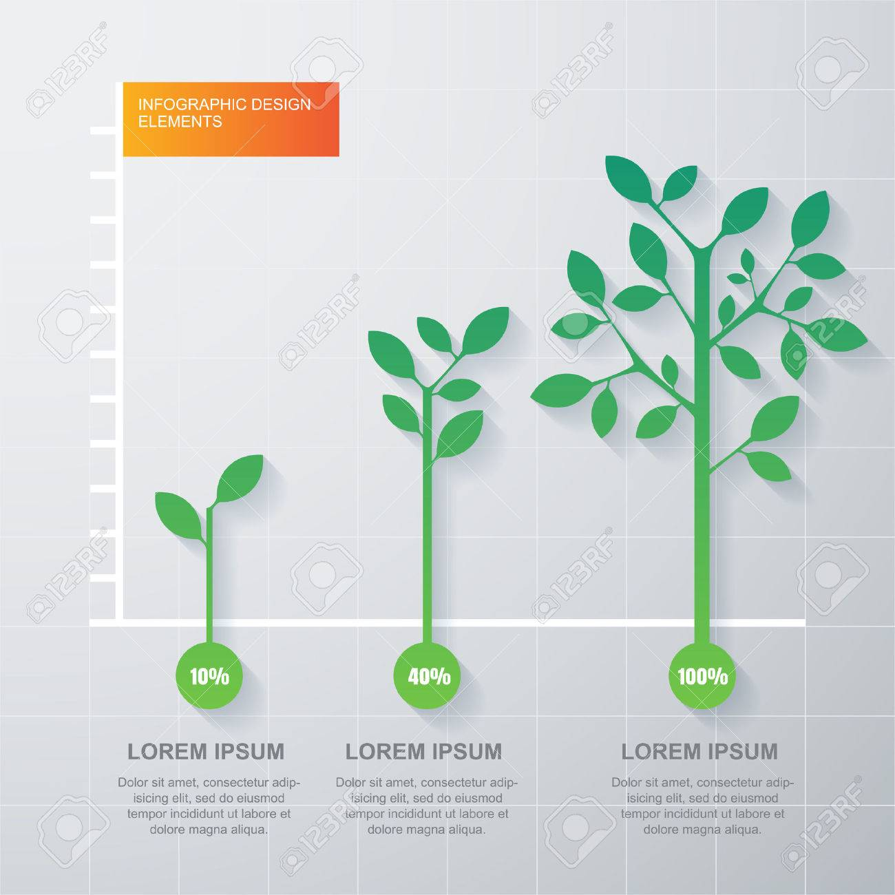 hight resolution of green tree and plant diagram infographics template stock vector 34672029