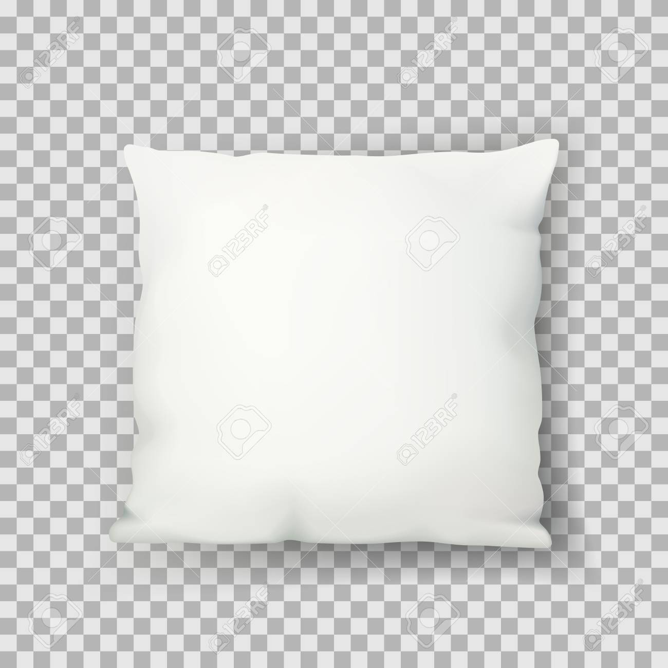 vector realistic 3d illustration of white square sleeping pillow