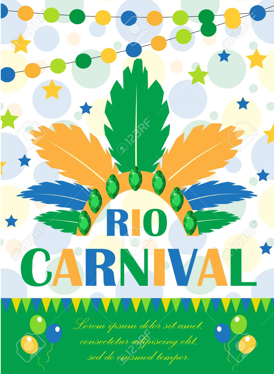 Rio Carnival Poster, Invitation, Flyer. Template For Your Design ...