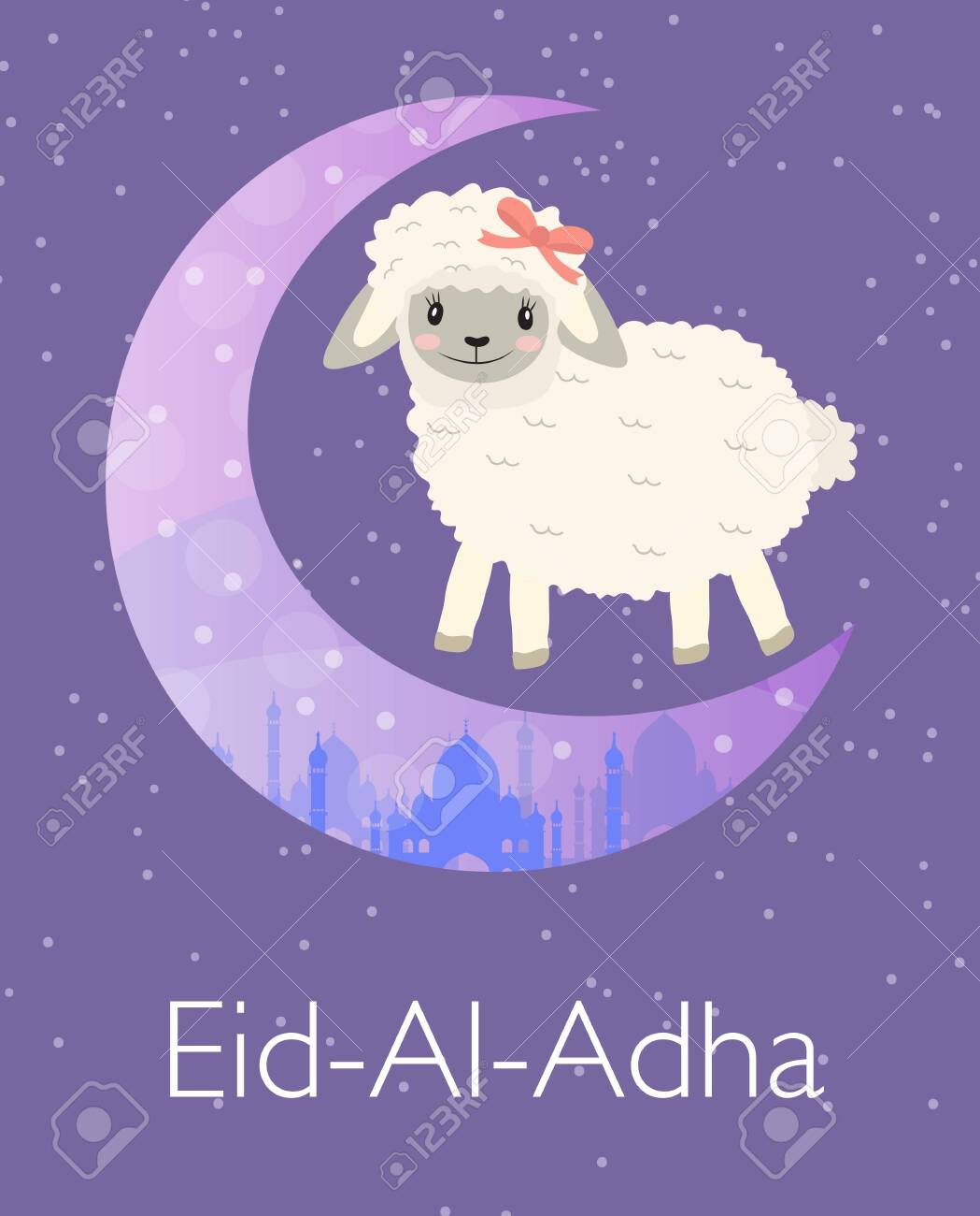 Eid Ul Adha Funny Greeting Cards : funny, greeting, cards, Greeting, Little, Sheep, Art.., Royalty, Cliparts,, Vectors,, Stock, Illustration., Image, 126547242.