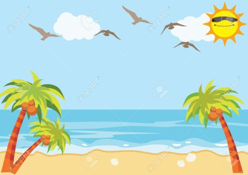 small resolution of sea sand beach background stock vector 15938880