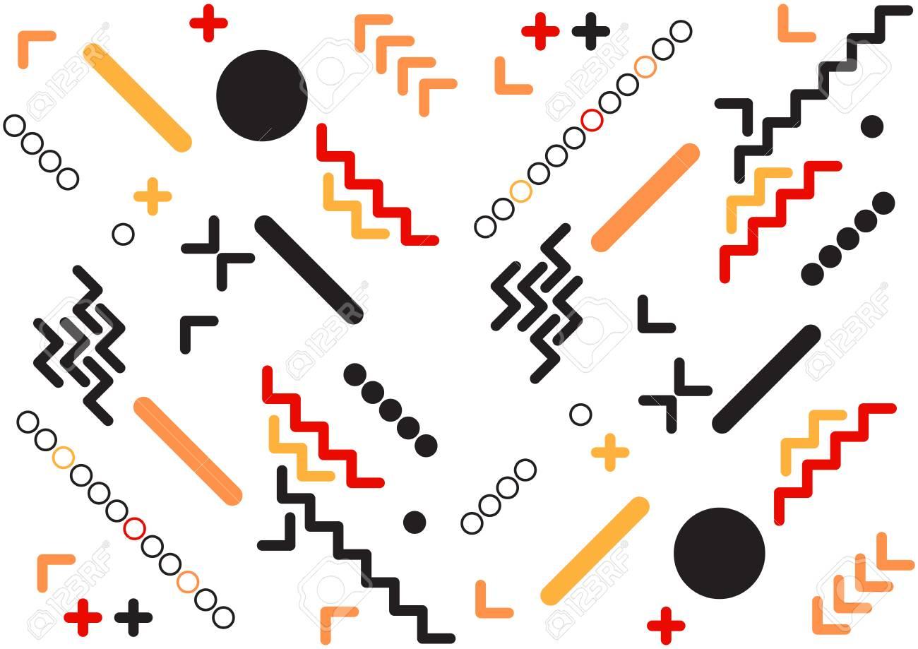 abstract memphis design template