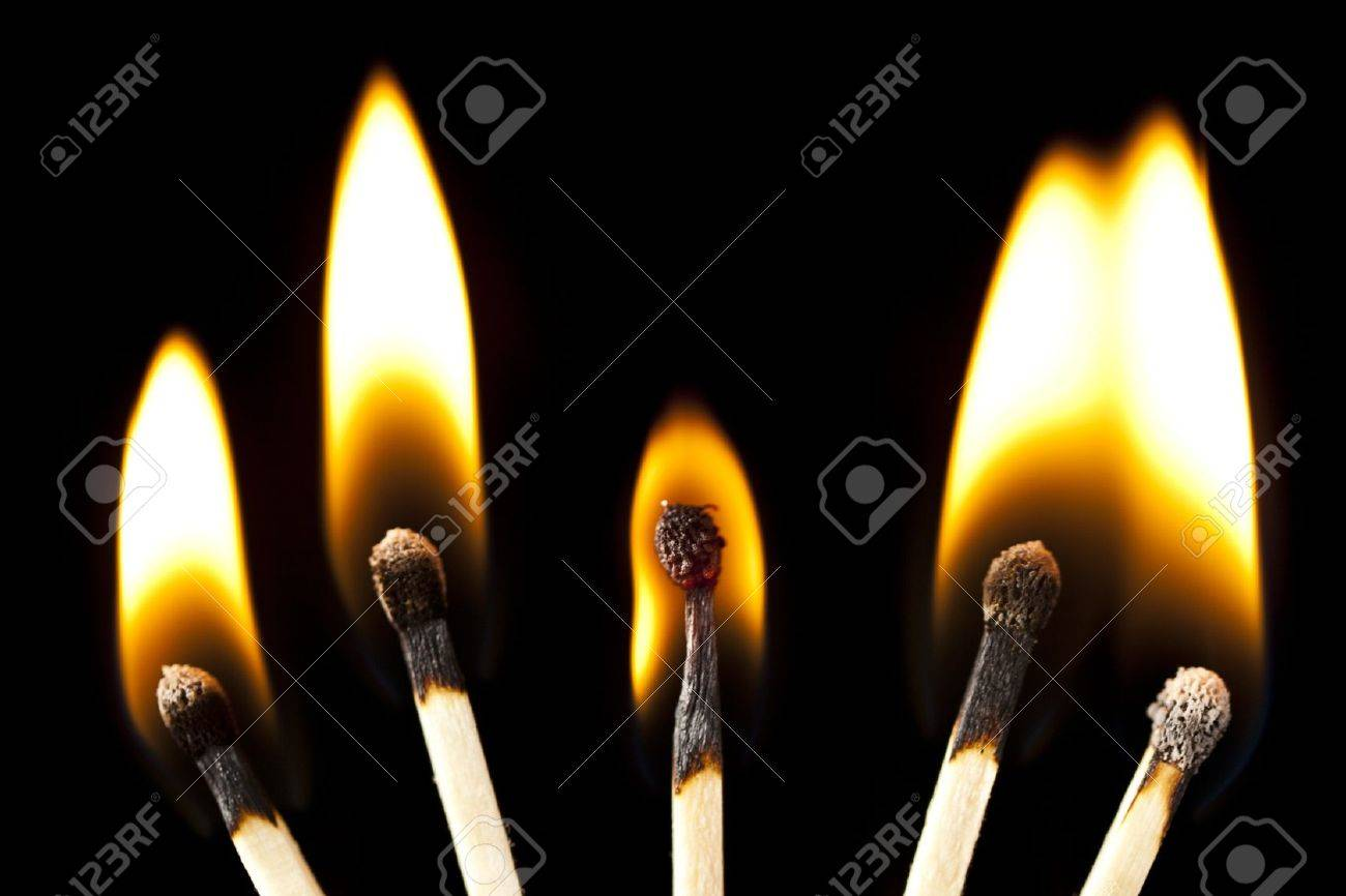 green wooden matches on