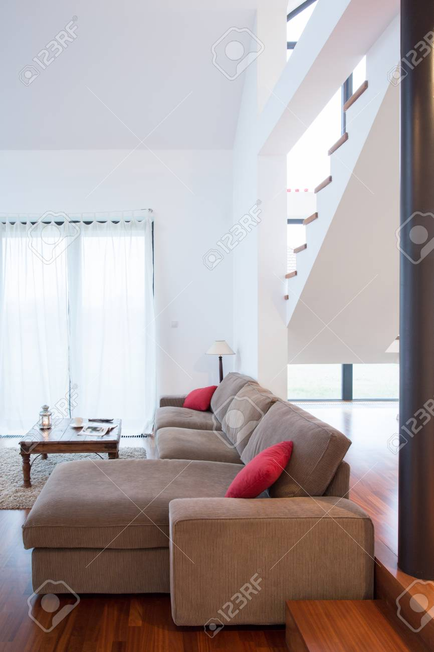 comfortable sofas for family room wooden sofa set with storage vertical view of in stock photo