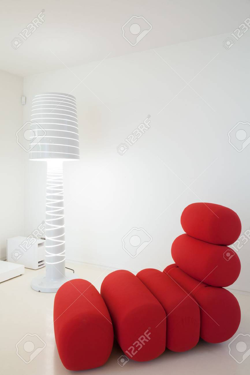 unusual armchair walmart beach chairs on sale picture of and fancy white lamp stock photo 39949807