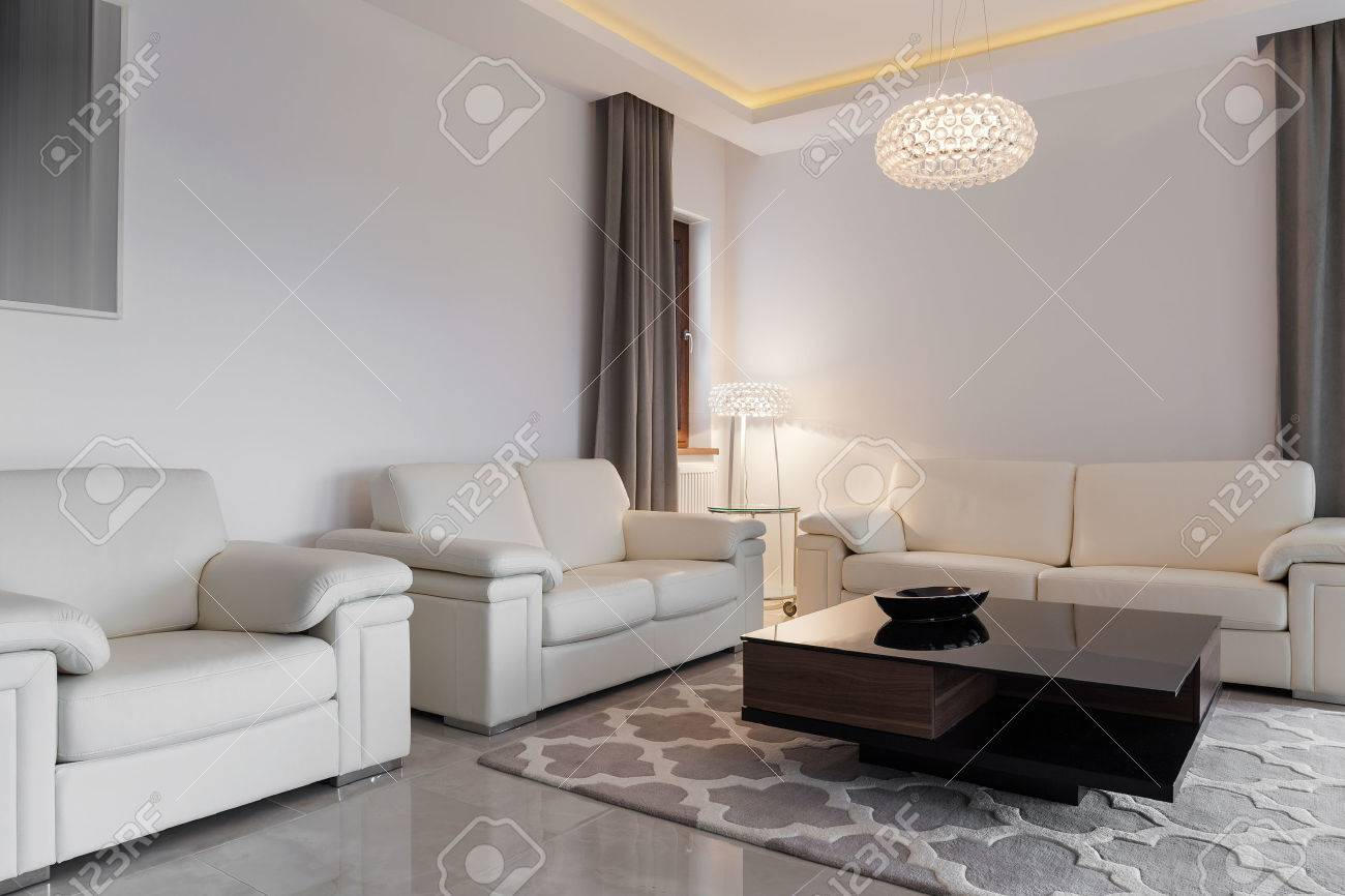 comfortable sofas for family room wood sofa set designs images contemporary cozy with three stock photo 40331254