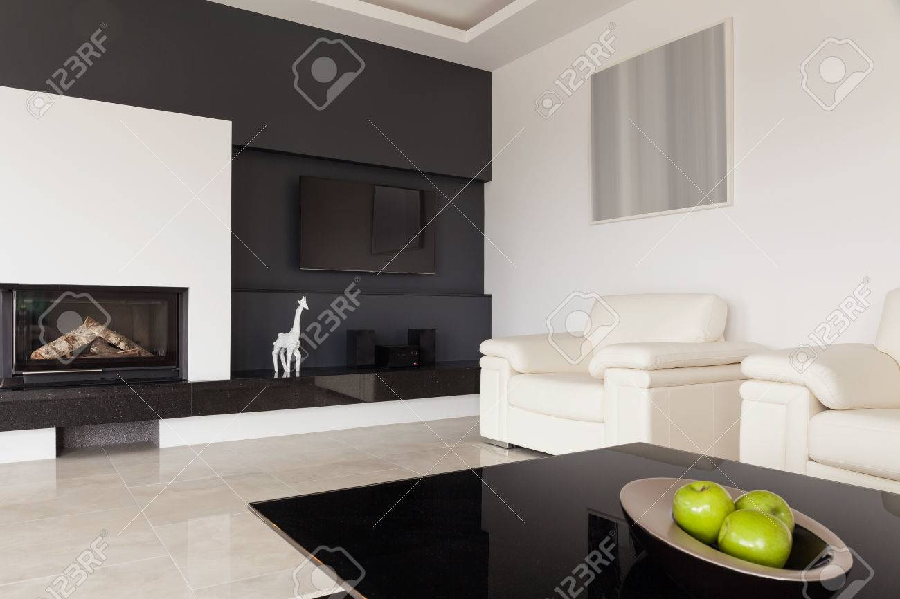 Wohnzimmer Modern Schwarz Weiß Modern Black And White Living Room Design Stock Photo, Picture And Royalty Free Image. Image 41889814.