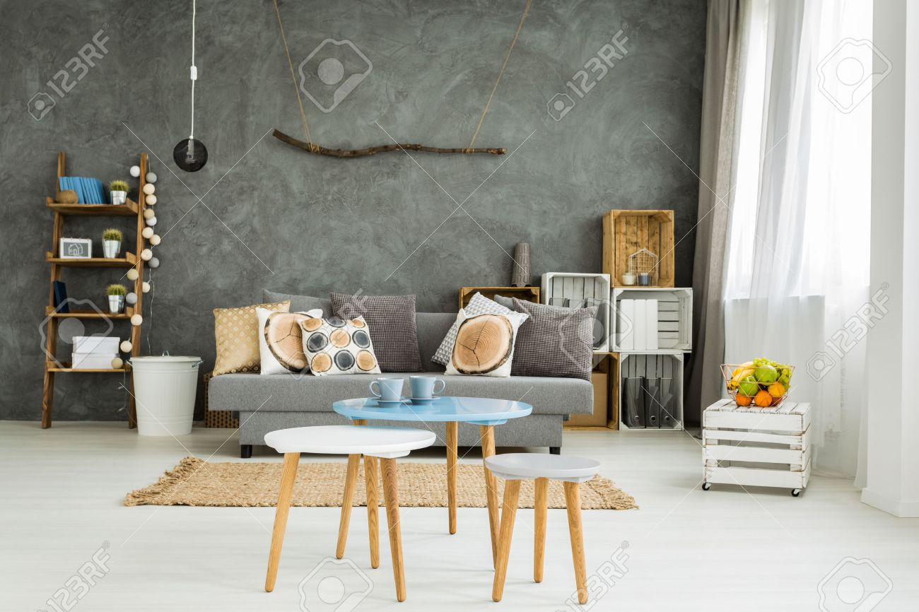 Table With Two Chairs Spacious Living Room In New Style With Sofa Small Table Two