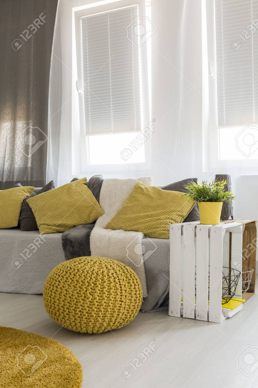 diy living room side tables navy and brown ideas light new style with window sofa table yellow pouf