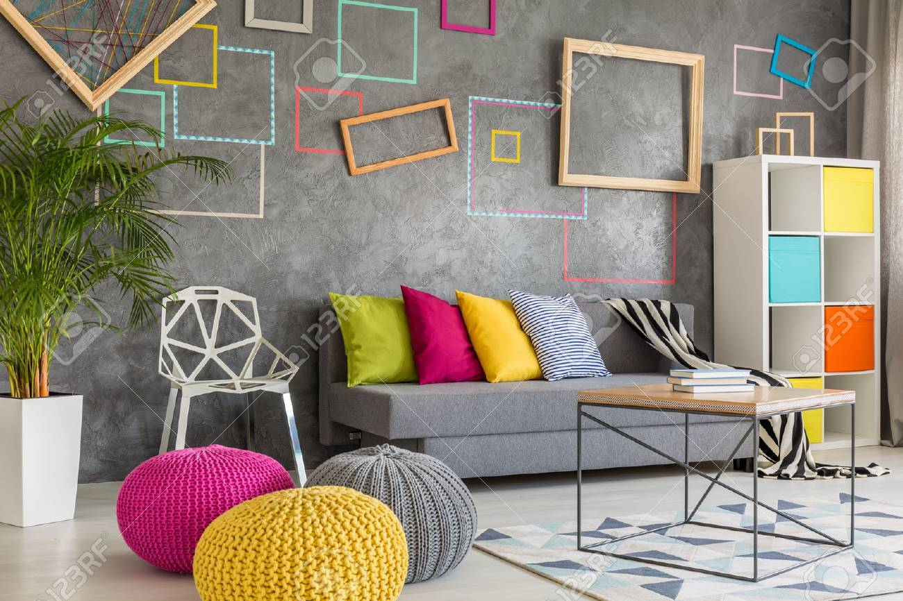 colorful living room with