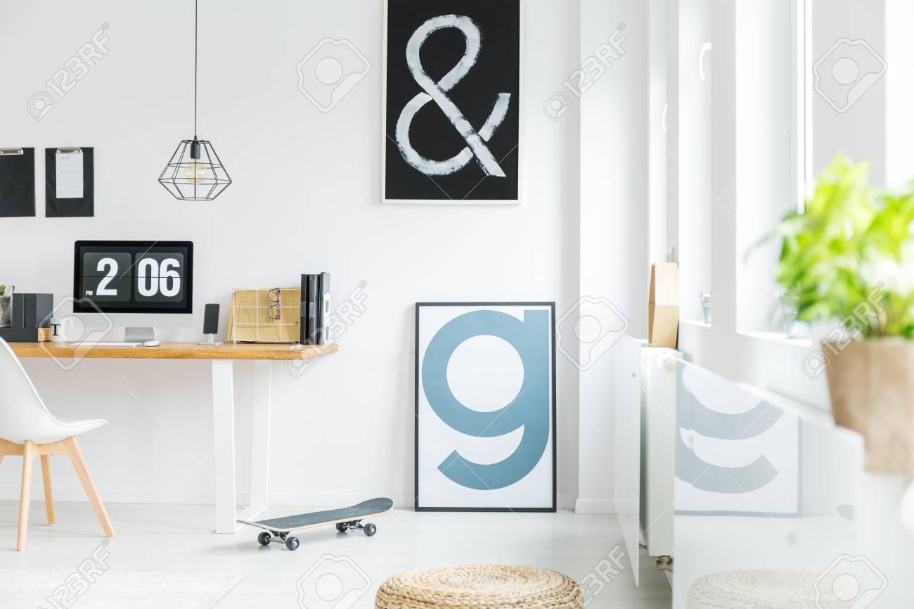 white minimalist room with