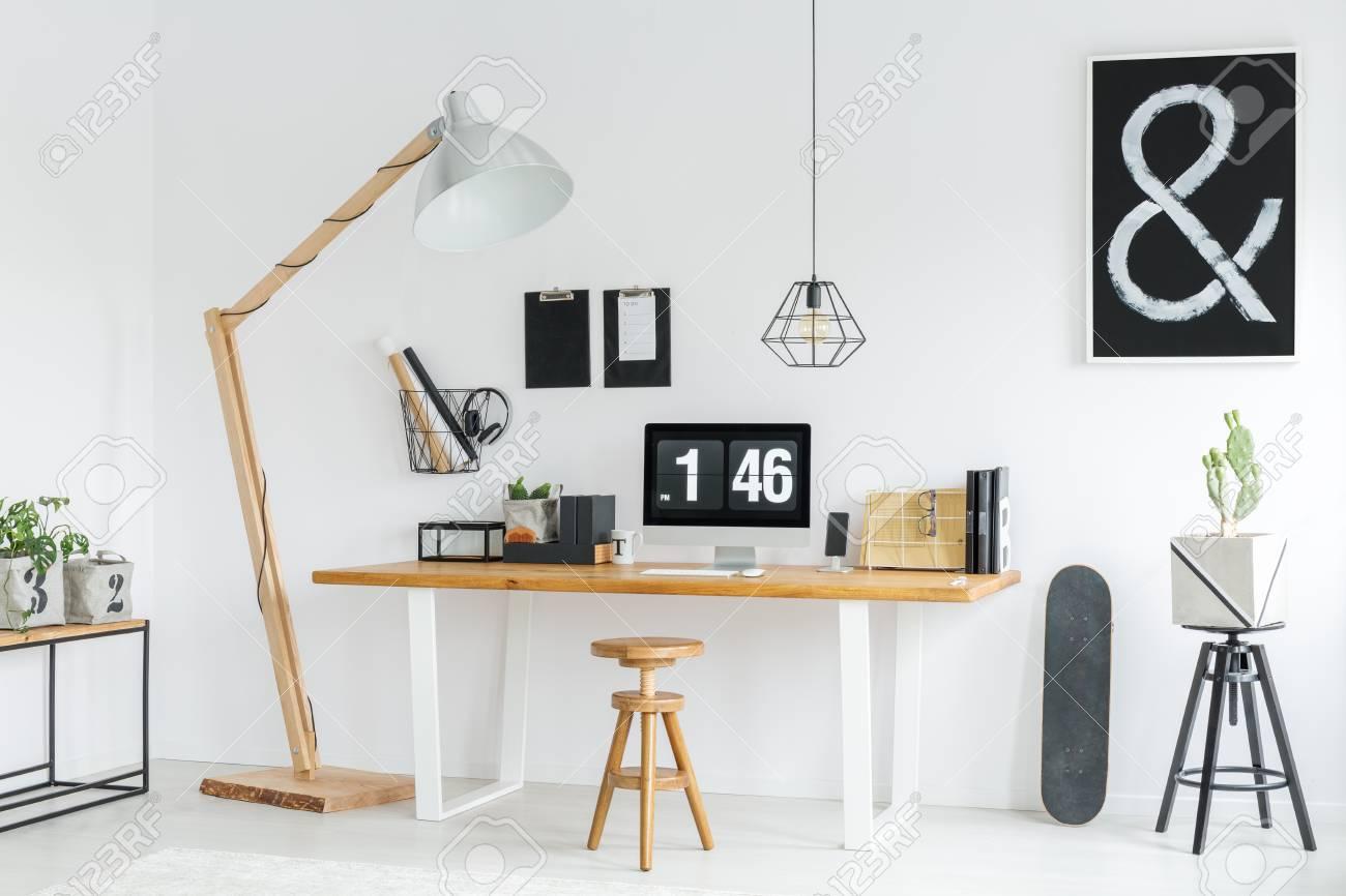 white minimalist studio with
