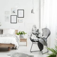 Bedroom Chair With Blanket Grey Fabric Dining Chairs Uk On Designer In Natural Interior Plants Wooden King Size Bed