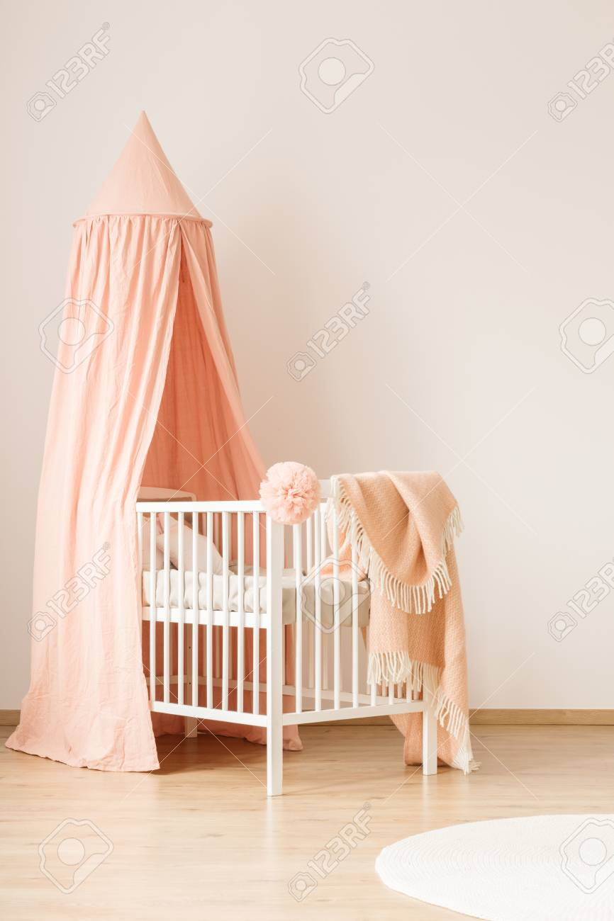minimalist white crib with