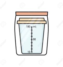 empty urine sample collection container in sealed plastic bag for doping control urinalysis flat vector [ 1300 x 1300 Pixel ]