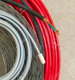 heating floor system wires and cables renovation and construction concept comfort house stock [ 1300 x 866 Pixel ]