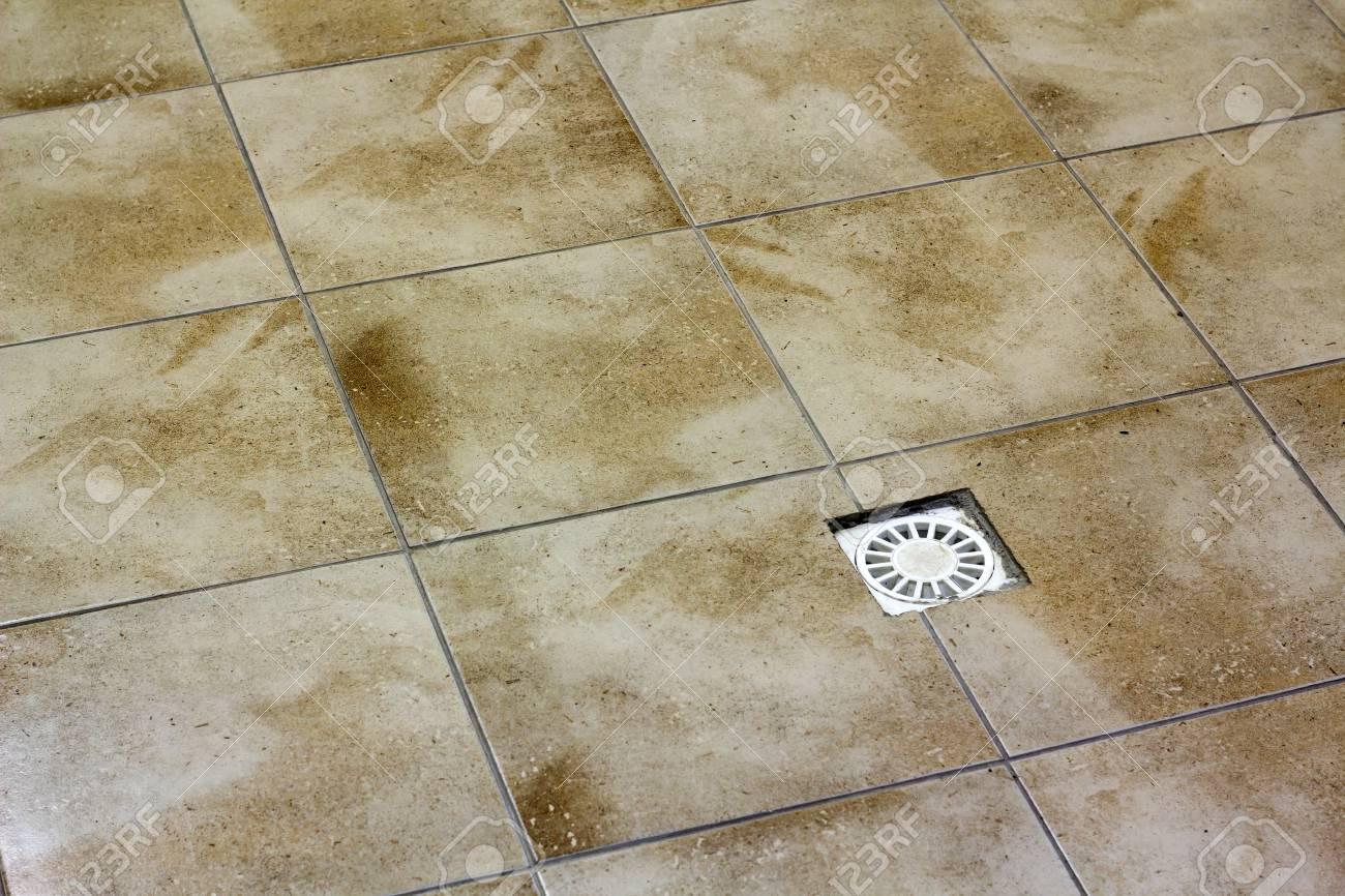 water drain vent in kitchen bathroom or basement ceramic tiled
