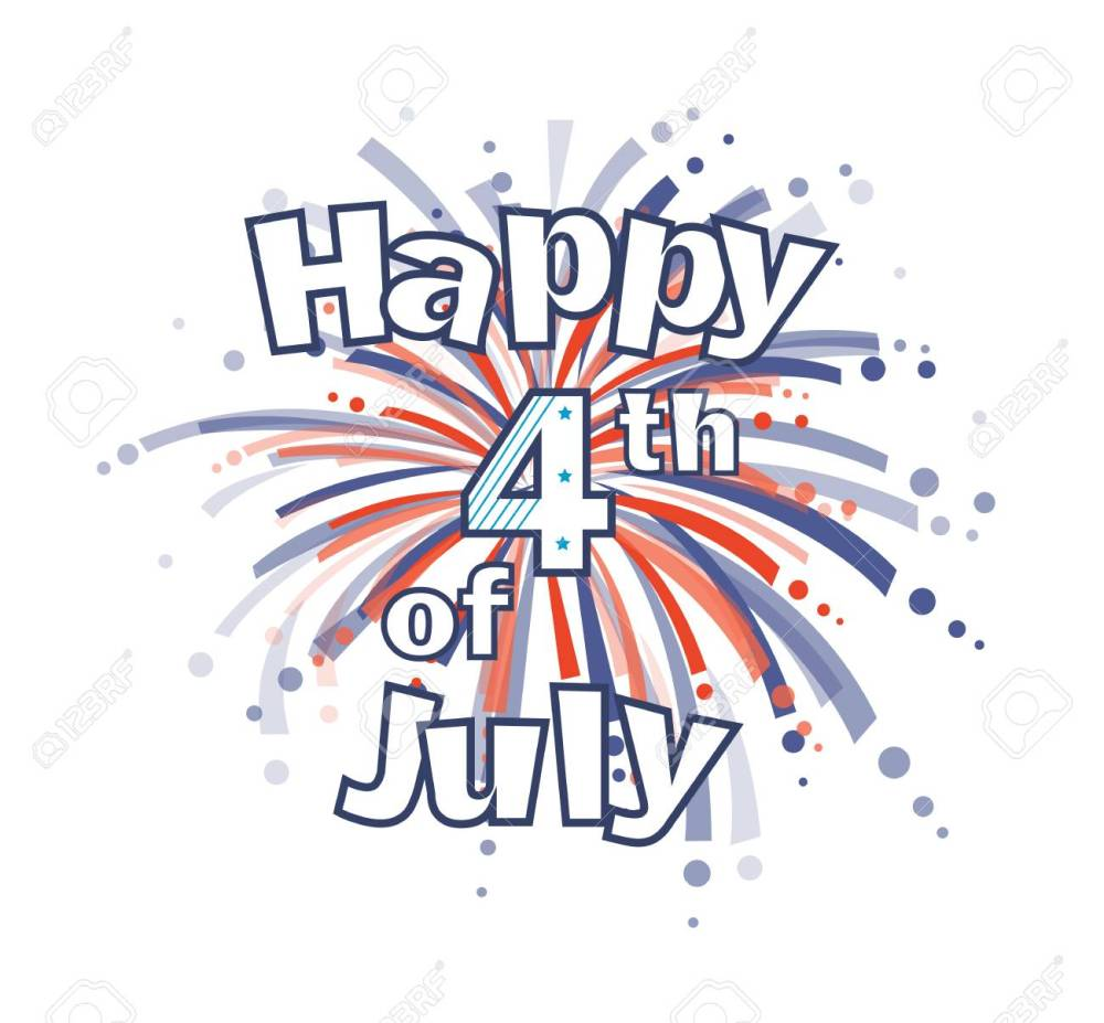 medium resolution of fourth of july fireworks happy 4th of july clip art with red and blue firework
