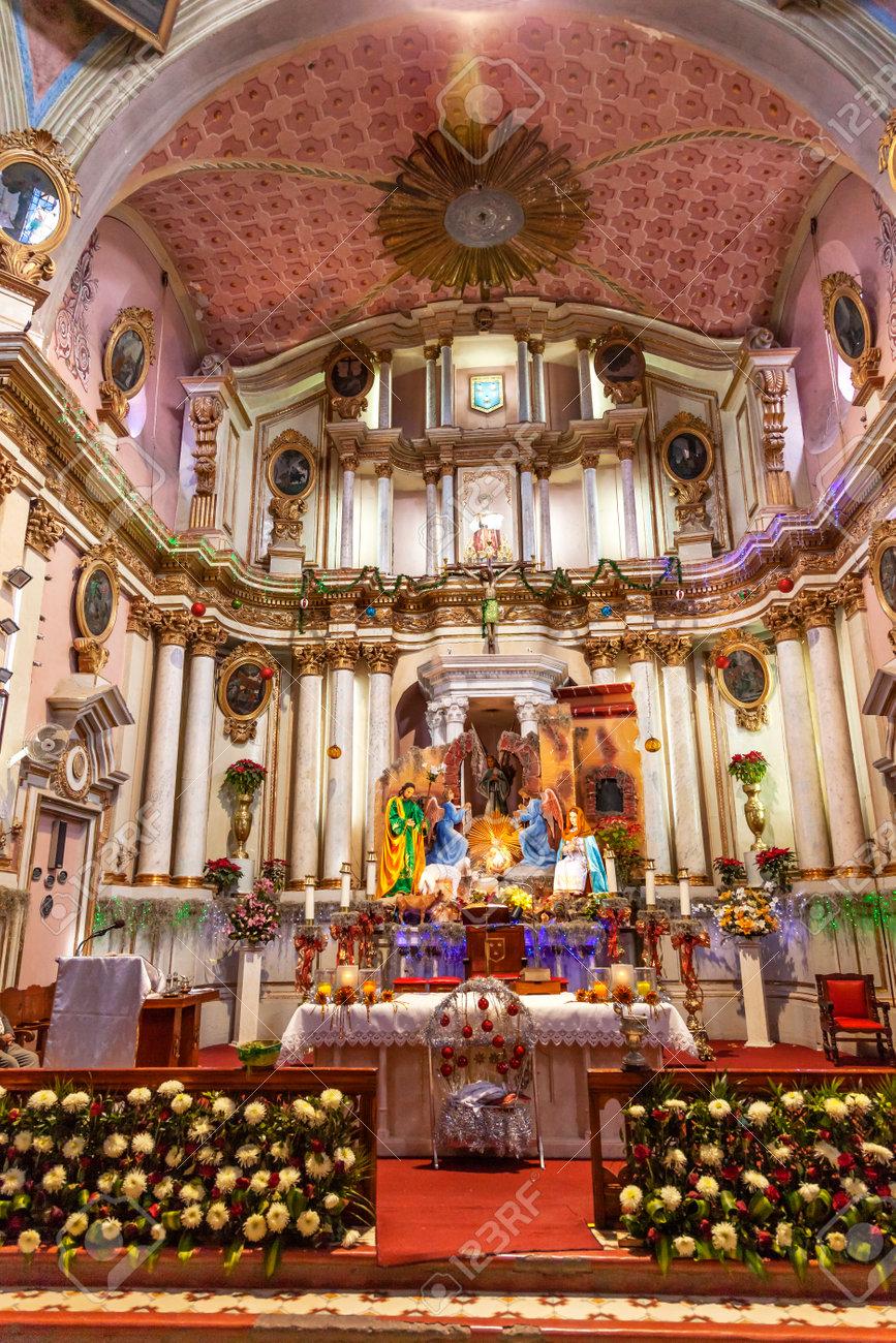 Altar Crech Christmas Decorations Basilica Templo Del Oratorio
