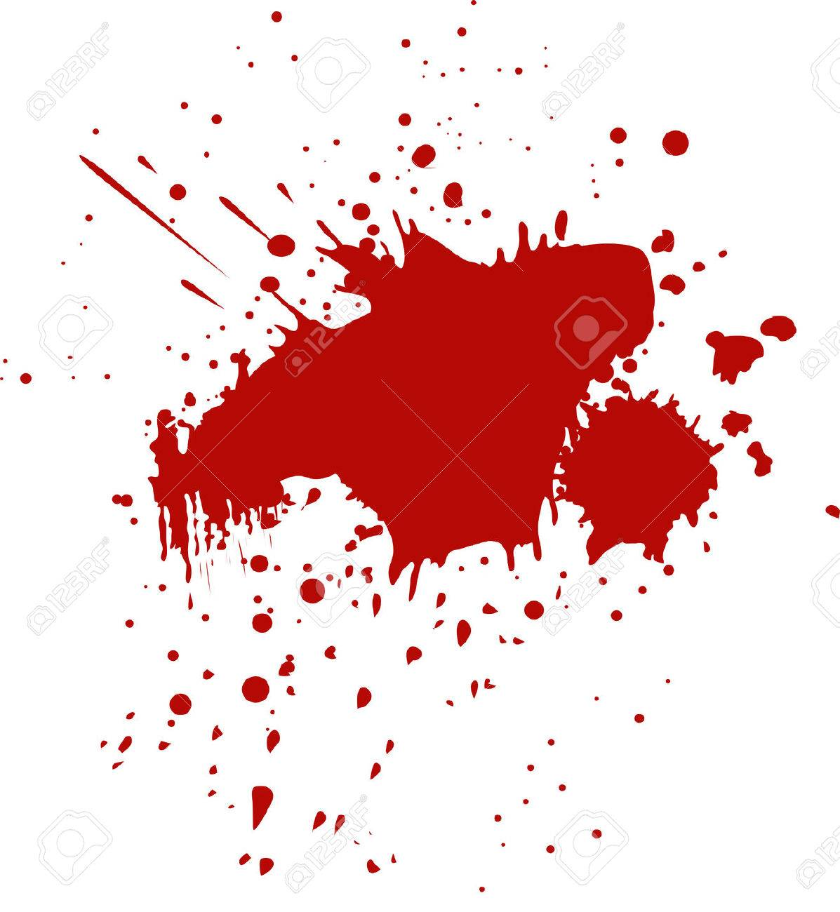 hight resolution of blood splatter stock vector 34918135