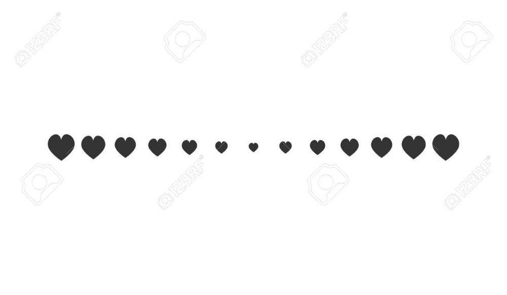 medium resolution of heart horizontal line simple shape vector symbol icon design illustration of hearts line divider isolated