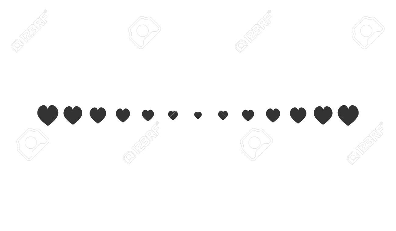 hight resolution of heart horizontal line simple shape vector symbol icon design illustration of hearts line divider isolated