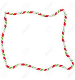 candy cane frame border random shape vector christmas design isolated on white background stock vector [ 1300 x 1300 Pixel ]