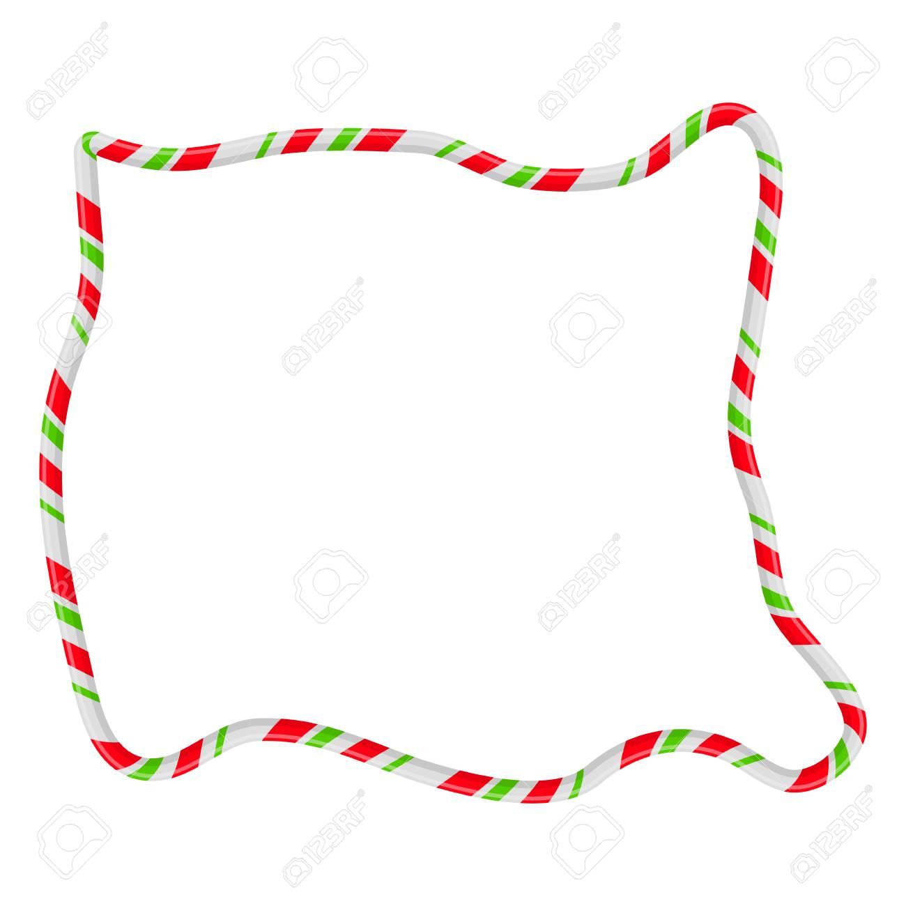 hight resolution of candy cane frame border random shape vector christmas design isolated on white background stock vector