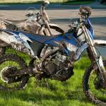 Dirty Dirt Bikes After Race In Mud Conditions Need Washed Stock Photo Picture And Royalty Free Image Image 44373999