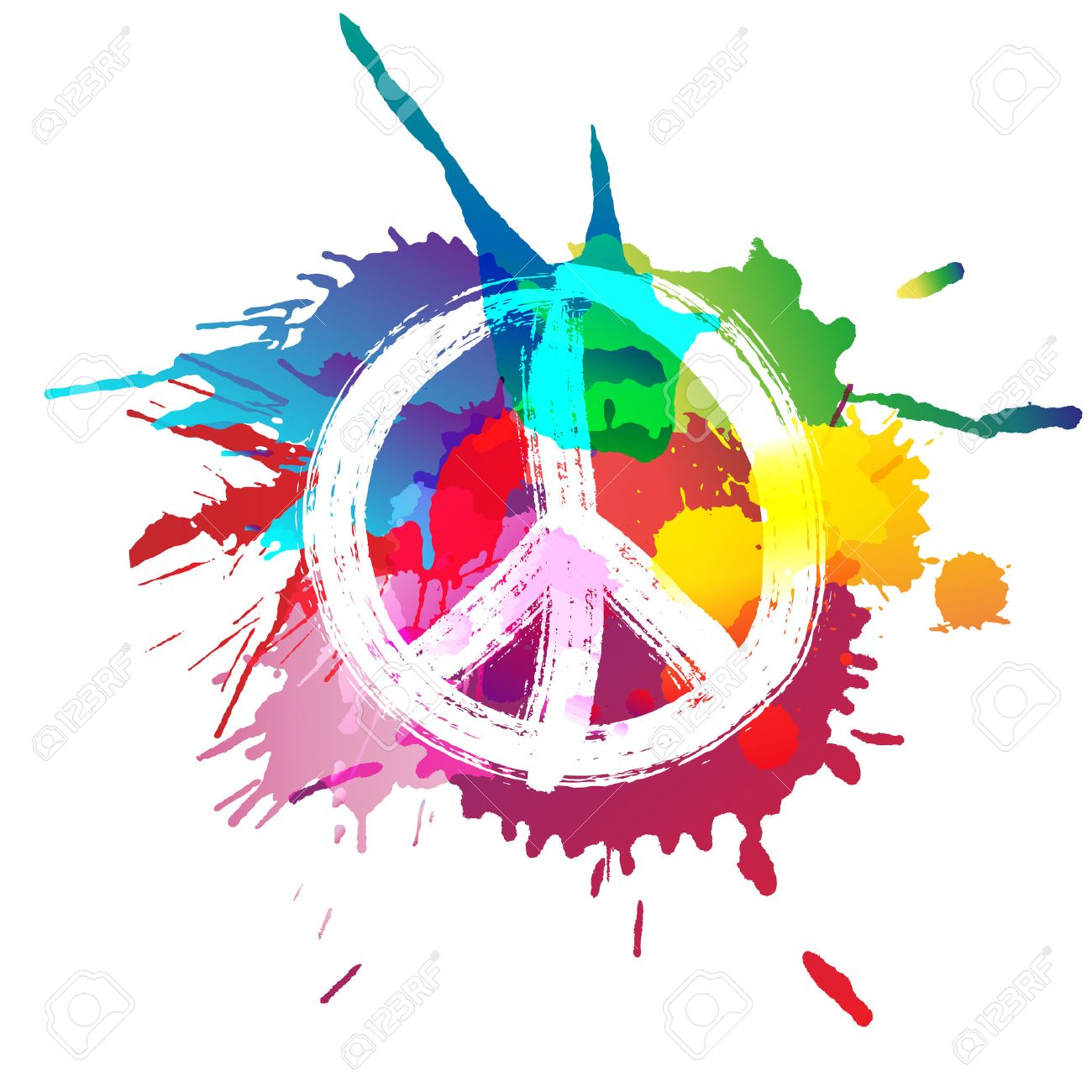 peace sign in front