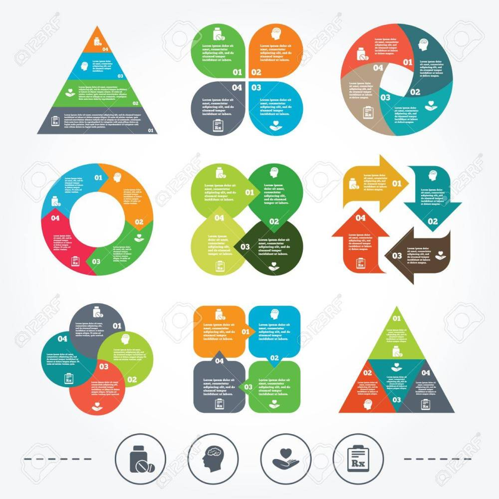 medium resolution of charts circle et diagramme de triangle ic nes de la m decine comprim s m dicaux bouteille t te avec cerveau signes prescription rx pharmacie ou le