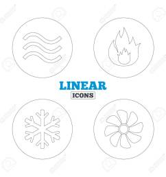 hvac icons heating ventilating and air conditioning symbols water supply climate control [ 1300 x 1300 Pixel ]