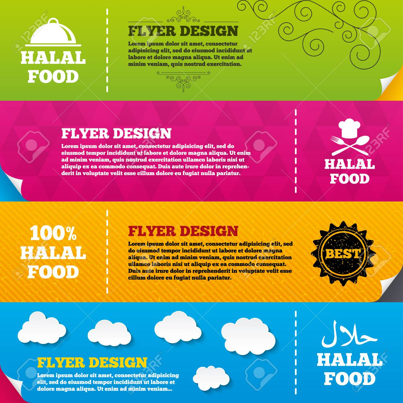 flyer brochure designs halal